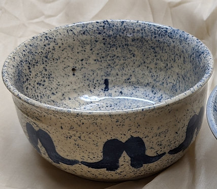 Ceramic Bowl, small, boots motif.