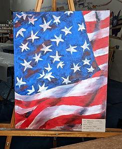 019-P-53, Large American Flag, oil, $180, crp.jpg