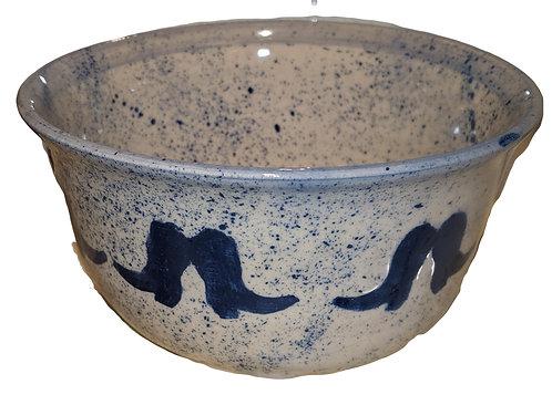 Ceramic Bowl, large, boots motif. 003-C-665