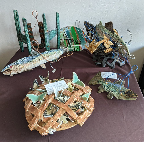 A group of Amos Art creations, $45 to $250