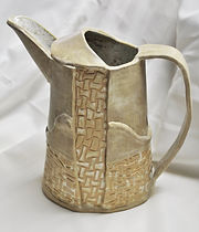 BS, #C302, Ceramic Pitcher, 8 inches hig
