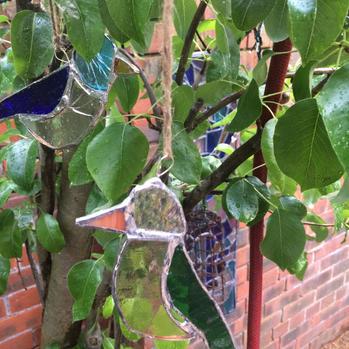 Glass Birds in tree