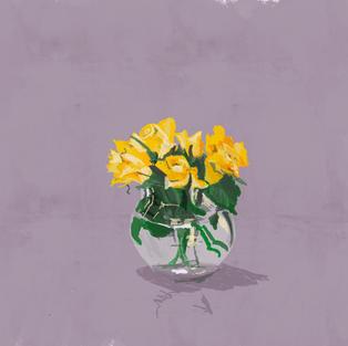 Nats yellow roses