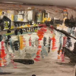 River Thames painting sketch