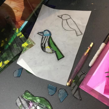 Making the glass birds