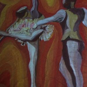 Dancers in orange