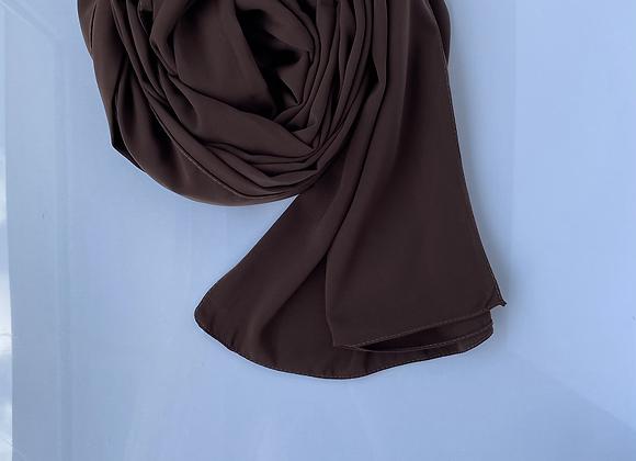 Schokoladenbraun Meine silk hijab
