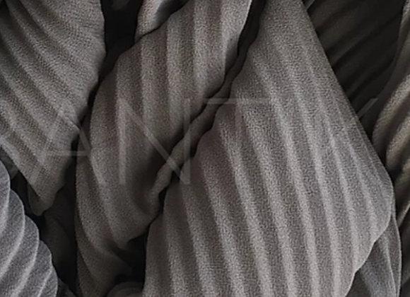 GREY plisse shawl