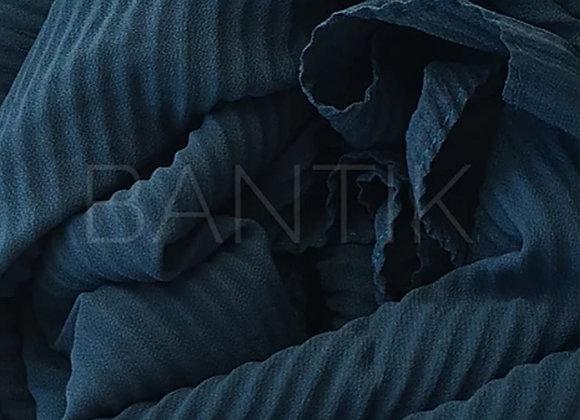 BLUEBERRY plisse shawl
