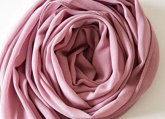 COLD PANTONE PINK chiffon shawl