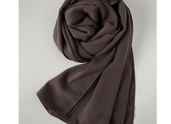 DARK brown Medina silk hijab