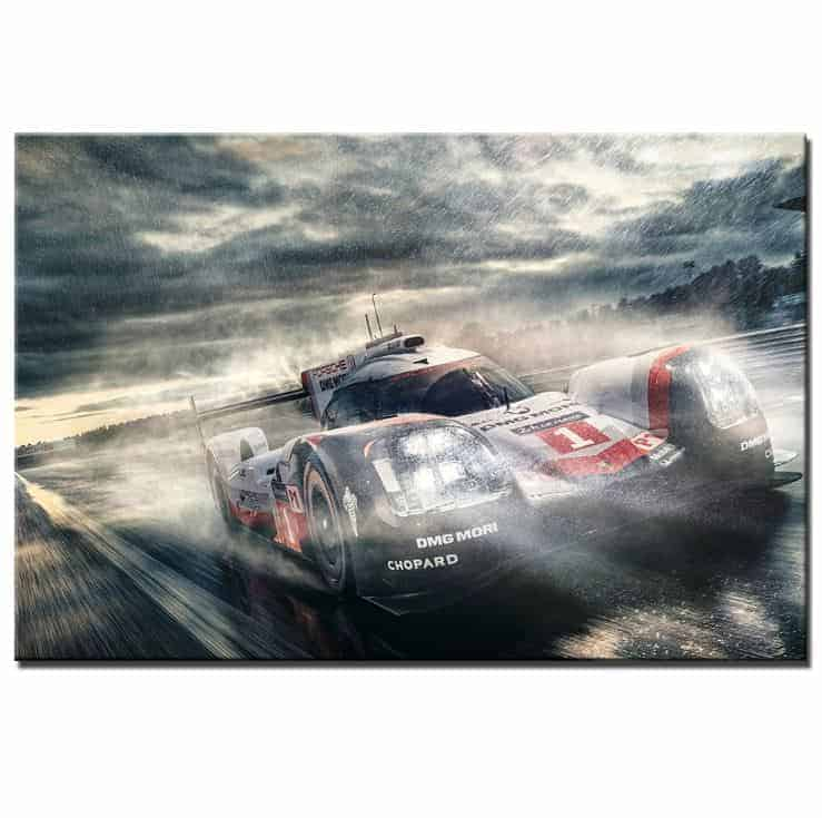 Porsche 919 Lemans Wall Art Canvas [FREE SHIPPING]