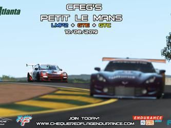 CFEG's 12h Du Mans + PTLM dates Released