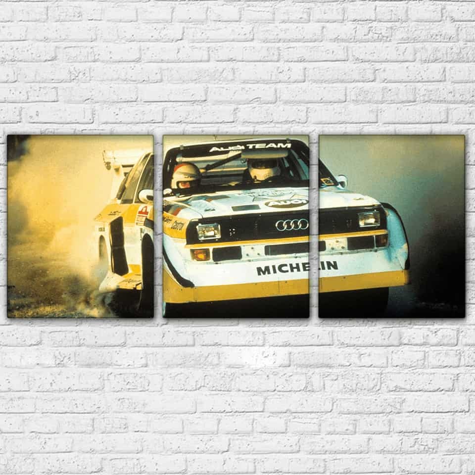 Audi Quattro Rally Modular Wall Art Canvas [FREE SHIPPING]