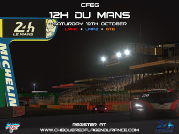 CFEG's 12h Du Mans - Registration Opens Soon!
