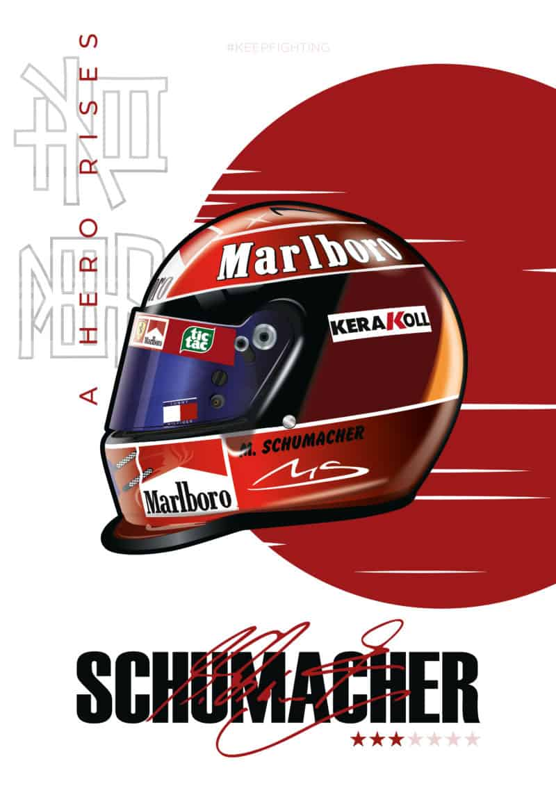 Michael Schumacher 2000 Japanese GP Helmet [FREE SHIPPING]