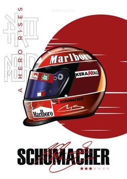 Michael Schumacher 2000 Japanese GP Helmet [FREE SHIPPING]