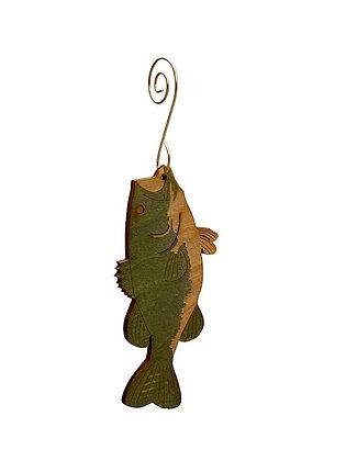 Bass Fish Ornament #9892
