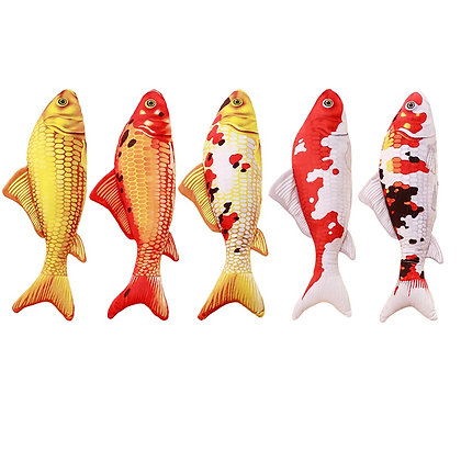 3D Fish Shape Catnip Toys for Kitten Fish Stuffed Pillow