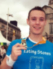 Danny Cassidy Eating Stones Volunteer Fundraiser Champion