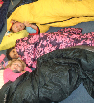 sponsored sleepover at Ponteland Primary School.