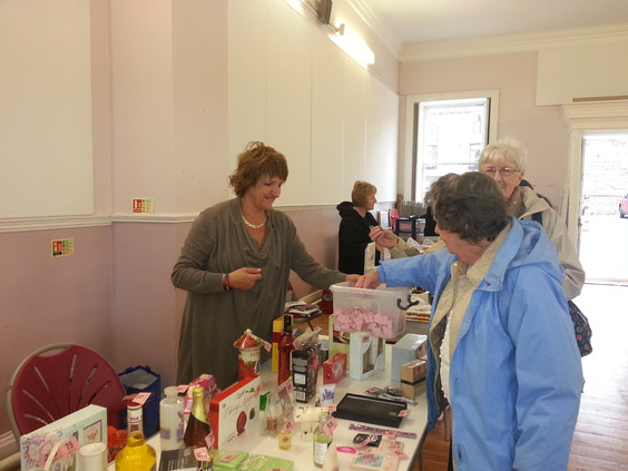 table-top sale and tombola.