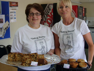 Val & Norma's cake sale.