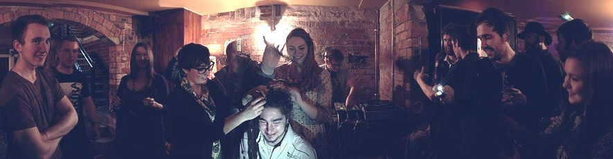 Matty cut off his beloved dreadlocks to raise money for Eating Stones.