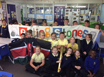 primary school visit with olympic torch!