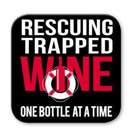 Trapped Wine Coaster