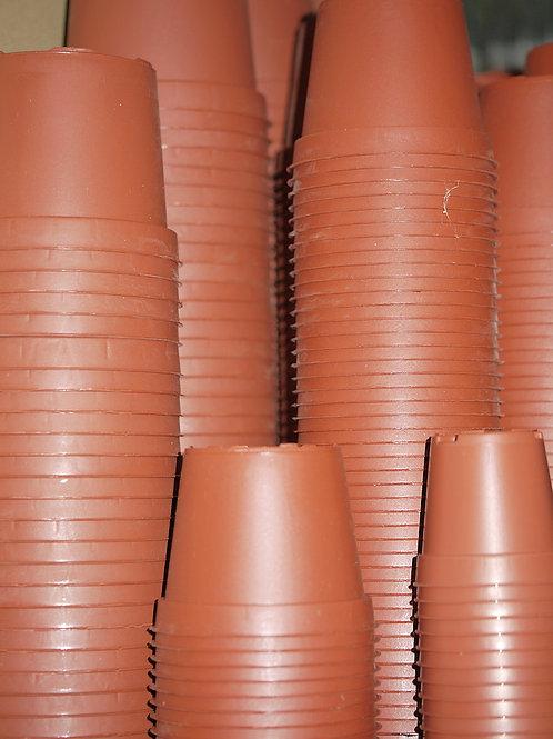 Lot de pots en plastique rond (par 10)