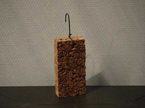 Plaque en liège aggloméré 7x14 cm / ép.3 cm