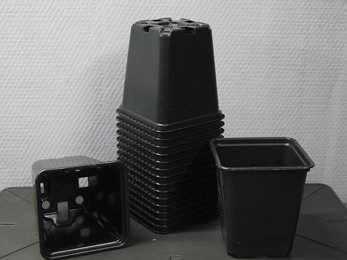 Lot de pots carrés en plastique injecté (par 10)