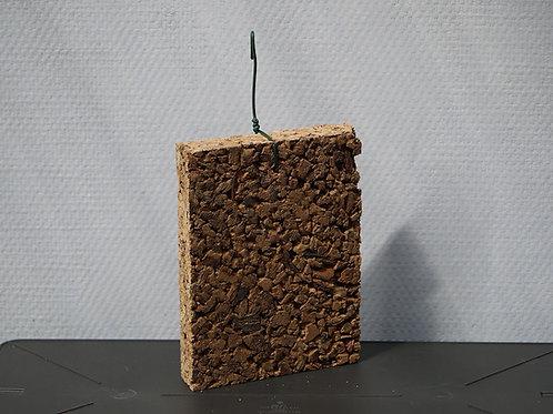 Plaque en liège aggloméré 15x19 cm / ép.3 cm