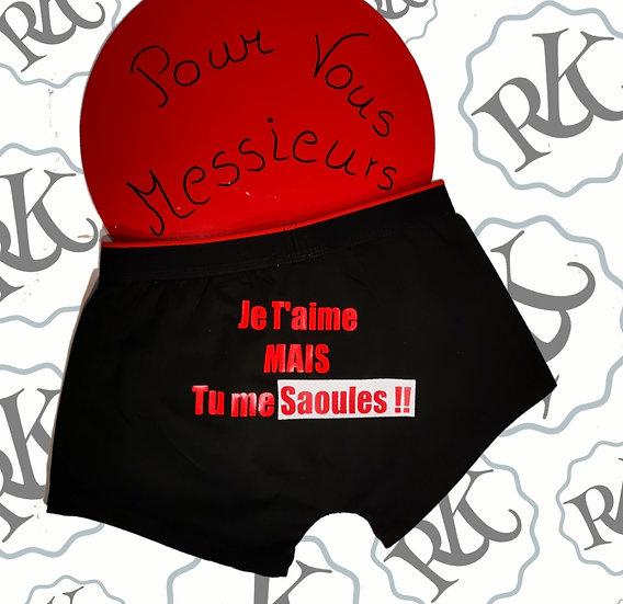 Calecon Humour JT'Aim.. / Marque ROKTOPODE de Roka La Poulpe avec ROKA CONCEPTS - BOUTIQUE CADEAU INSOLITE- YVERDON-LES-BAINS