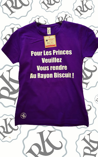 T-shirt Humour Prince / Marque ROKTOPODE de Roka La Poulpe avec ROKA CONCEPTS - BOUTIQUE CADEAU INSOLITE- YVERDON-LES-BAINS