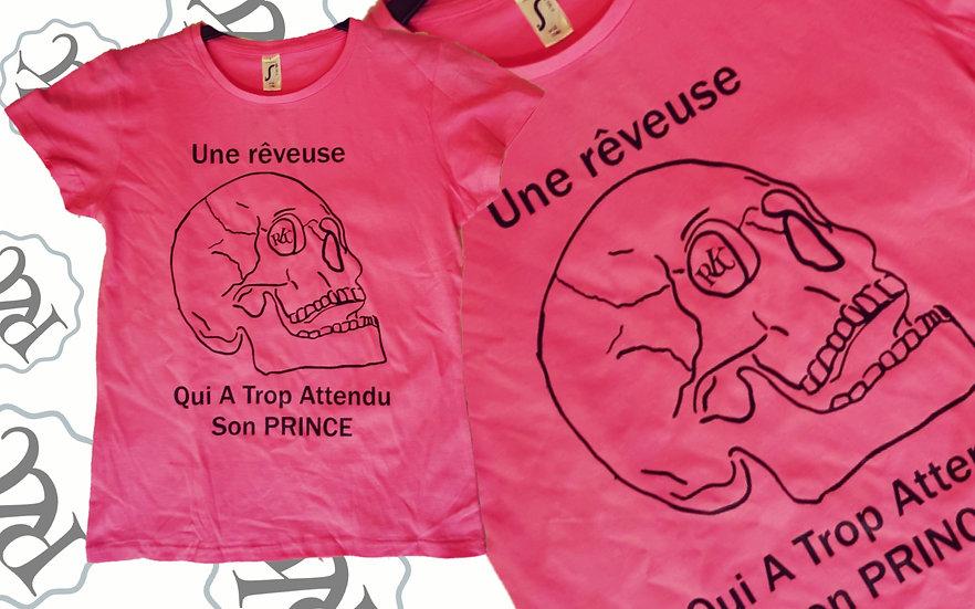 T-shirt Humour Reveuse / Marque ROKTOPODE de Roka La Poulpe avec ROKA CONCEPTS - BOUTIQUE CADEAU INSOLITE- YVERDON-LES-BAINS