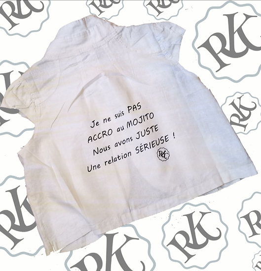 Gilet Humour Mojito / Marque ROKTOPODE de Roka La Poulpe avec ROKA CONCEPTS - BOUTIQUE CADEAU INSOLITE- YVERDON-LES-BAINS