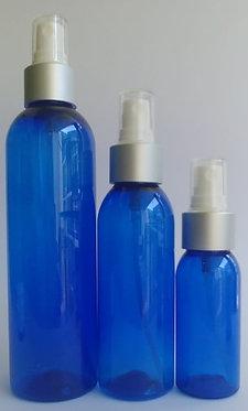 Blue PET Bottle - Silver Spray