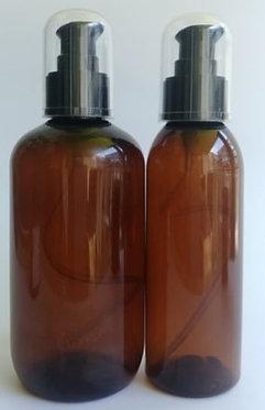 Amber PET Bottle Black Serum Pump
