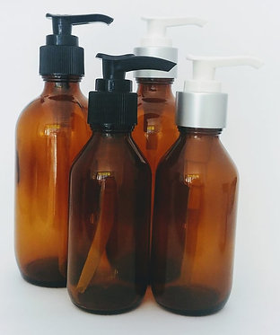 Amber Glass Bottle - Pump