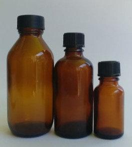 Amber Glass Bottle - Screw Cap