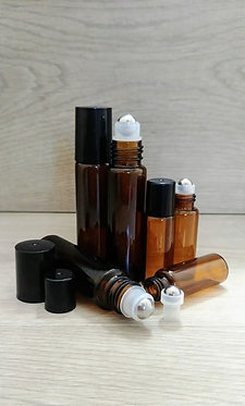 Amber Glass Perfume Roller Bottle