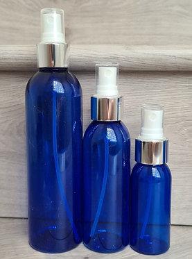 Blue PET Bottle - Shiny Silver Spray