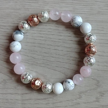 Rose Quartz Howlite