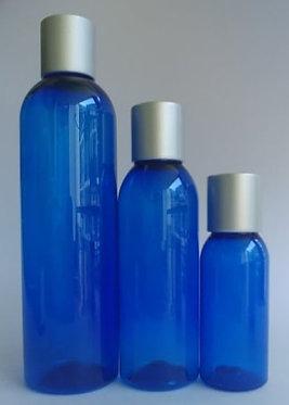 Blue PET Bottle - Silver Disc Cap
