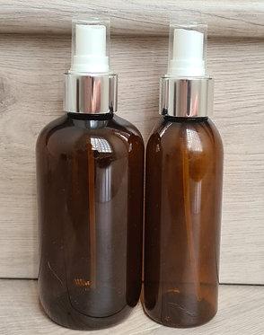 Amber PET Bottle Shiny Silver Spray