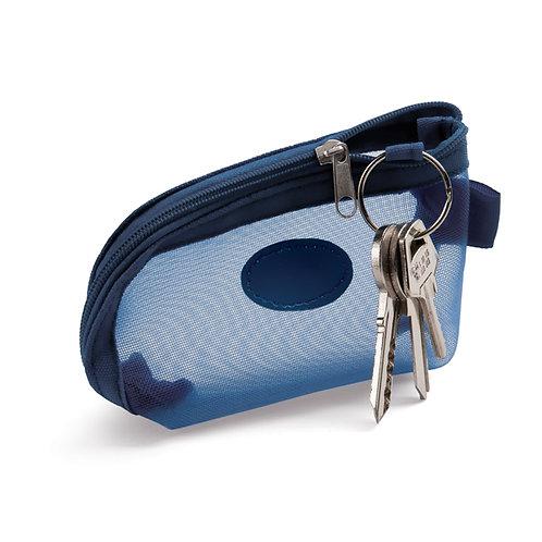 Necessaire Chaveiro Personalizada azul nexo brindes