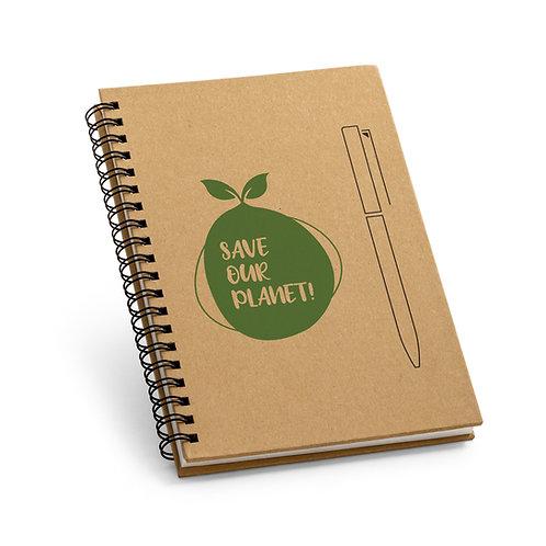 Caderno B6 Papel kraft bloco de anotação personalizado nexo brindes novo hamburgo