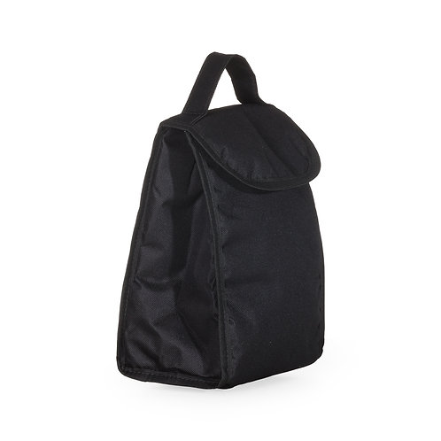 Bolsa térmica 4,2 litros com alça de mão, material externo de nylon.